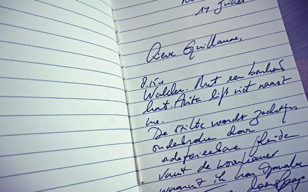 Lieve Guillaume (dagboek uit de koers)