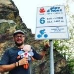 Alpe d'Huez, Bocht 6 met Aapje Papillon